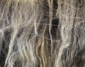 Shelob's Lair - Art Batt Spinning Felting Fiber 4.8 oz - Merino, Silk, Gotland, Bamboo gray spider cobweb