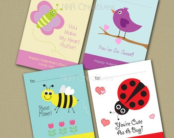 Personalized Fruit Valentines Day Cards Strawberry