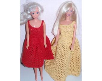 Barbie crochet pattern PDF short or long dress