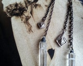 Crystal Quartz Dangle Earrings - TaxilHoax
