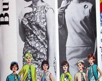 "Butterick Dress Pattern No 2624 UNCUT Vintage 1960s Size 16 Bust 36"" Dress Blouse Skirt Coat Jacket Vest Easy to Sew Coordinates"