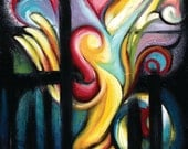 Fine Art Print Surreal Abstract of painting, 11 x 14, When Freedom Comes, by Tiffany Davis-Rustam
