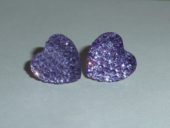 Crystallized Heart Post Earrings. NEW COLORS ADDED