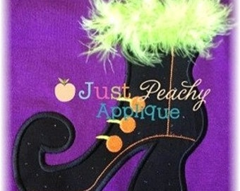 Witch Boot Halloween Machine Embroidery Applique Design Buy 2 for 4! Use Coupon Code 50OFF