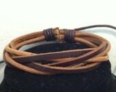Unisex Braided Hemp n Leather bracelet