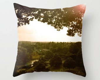 Countryside Sofa Pillow, Greeen Accent Pillow, Landscape Throw Pillow Cover, English Landscape, 18x18 22x22 Decorative Pillow Cushion