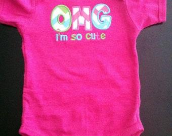 Baby Girl Onesie - OMG I'm So Cute
