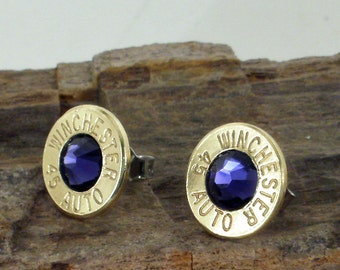 Bullet Earrings - Winchester 45 AUTO - Purple Drank Club Hoppers