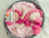 Newborn Snowgirl Photo Prop Set