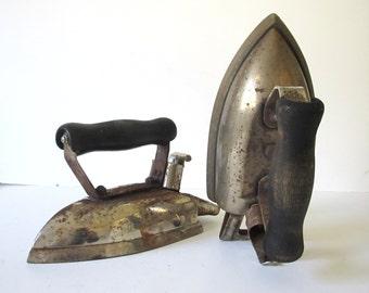 Rustic Antique Clothes Iron Pair