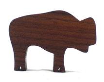 Wood Animal Toy Bison - Buffalo, wood bison, wooden toy for kids, buffalo toy, bison toy, wooden toy bison, buffalo figurine, toy buffalo