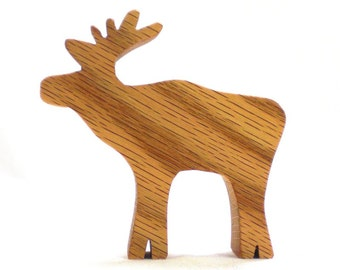 Natural Wooden Animal Toy, Moose Toy, natural wood toy, toy, wooden toy for boy, wooden toy for girls