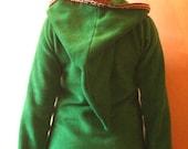 Legend of zelda costume Green Elven tunic - Medieval tunic - hyrule - Pixie hoodie - Psy hoodie- festival - Halloween - hippie hoodie