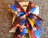 New  JESSIE  Toy Story   Ribbon Spike  hair bow set of 2    ........Too Cute
