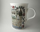 Vintage London Coffee Mug, Wren 1980s England