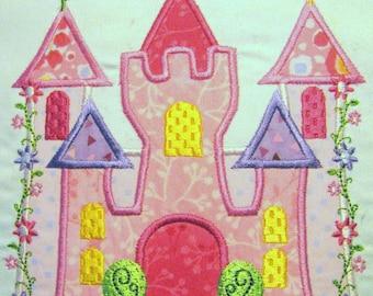Princess Castle Machine Applique Embroidery Design - 4x4, 5x7 & 6x8