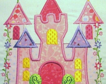 Princess Castle Machine Applique Embroidery Design - 5x7 & 6x8