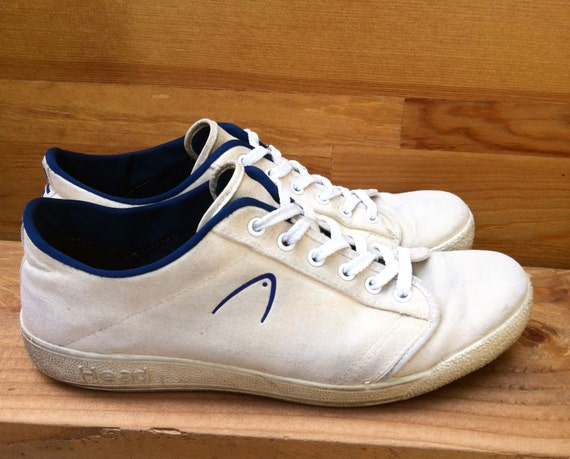 vintage white canvas tennis shoes usa made us 9 5