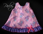 Beautiful Parley Ray Abby Cadabby Sesame Street Pinafore Dress with Ruffled Baby Bloomers/ Diaper Cover / Photo Props