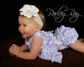 Beautiful Parley Ray Boutique Spring/ Easter Bunny Ruffled Baby Bloomers/ Diaper Cover / Photo Prop