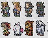 Final Fantasy 6 characters cross stitch pattern - (Final Fantasy III for the SNES)