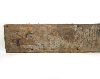 Vintage  Kansas Metal License Plate Rusted and Naturally Distressed 1937