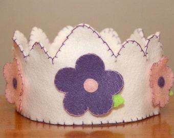 Felt Crown Girl -Flowers