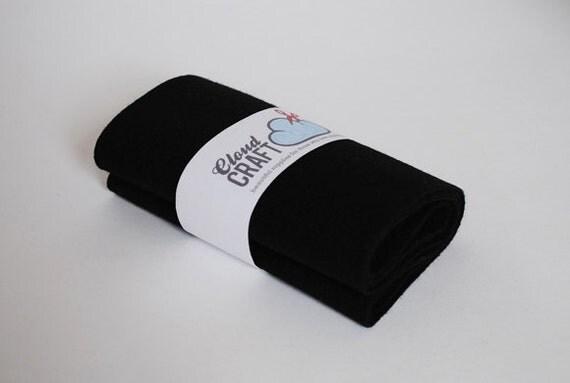 Wool Felt Roll - 100% Wool felt - 12x90cm - Dog's Nose Black