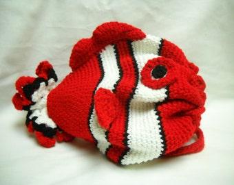 Cherry the Red Clown Fish Drawstring Bag