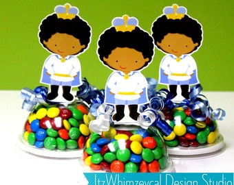 AA African American Prince Charming Candy Favor Containers