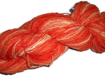Handspun, Hand Dyed Soft Merino Single Yarn. EU SELLER