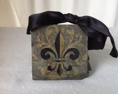 Fleur De Lis Coaster New Orleans Recycled Roofing Slate