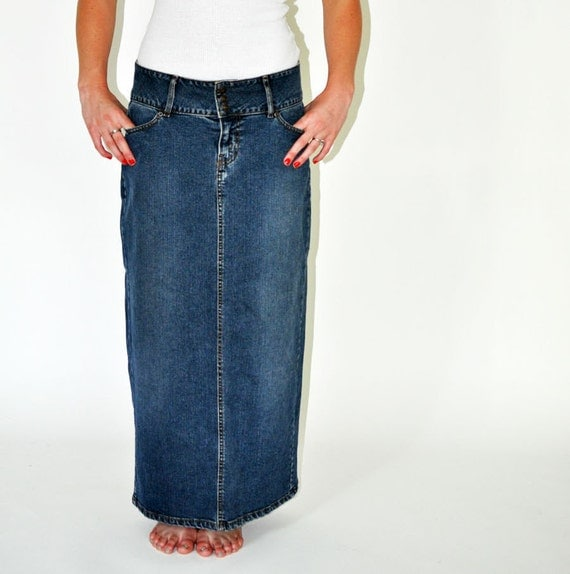 long vintage denim jean - photo #9