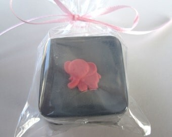 Pink Elephant Baby Shower Soap Favors