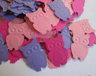 Owl Baby Shower Confetti, Pink and Purple Owl Birthday, 1st Birthday Owl Decor, Owl Baby Shower Girl, Owl Confetti, Owl Party Confetti