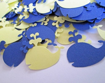 Nautical Baby Shower, Whale Baby Shower, Whale Confetti, Whale Baby Shower Baby Boy, Nautical Baby Shower Decoration