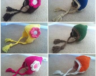 Crochet Pixie Beanie/Hat