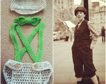 Crochet Newsboy Inspired Outfit
