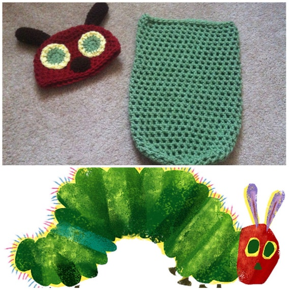 Very Hungry Caterpillar Crochet Hat Pattern Free : Crochet The Very Hungry Caterpillar Outfit
