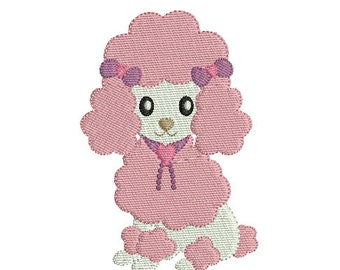 Instant download machine embroidery design Poodle dog