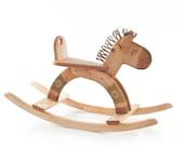 Wooden Rocking Horse, kids natural toy