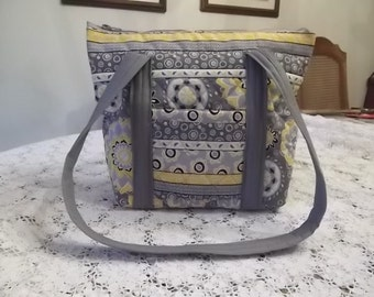 Grey and Yellow Shoulder Bag