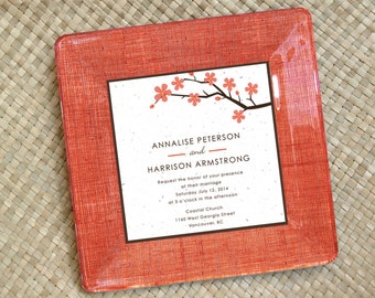 wedding invitation keepsake - unique wedding gift - for couples - wedding invitation plate - wedding plate - 1st anniversary gift