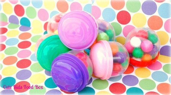 Vending Machine Capsules - Empty Set of 12 - Party Favors - Birthday - Candy Cups - Candy Capsules