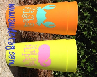 Personalized 32 oz Party Cups, Summer, Beach, Pool, Gift