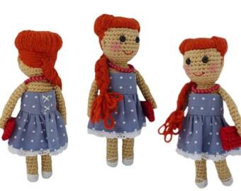 Crochet Rockabilly 50's Doll - Amigurumi Girl