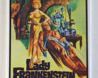 Lady Frankenstein Movie Poster Fridge Magnet