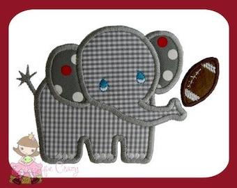 Elephant Football Applique design