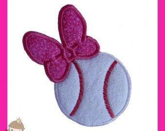 Girly Baseball Applique design