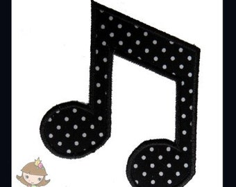 Music Note 4 Applique design
